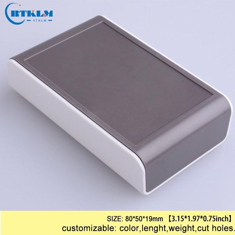DIY пластиковая коробка для проекта, корпус из АБС-пластика, Электронная распределительная коробка, заказной ящик для инструментов, маленькая настольная оболочка 80*50*19 мм - Цвет: BMD60001-A6