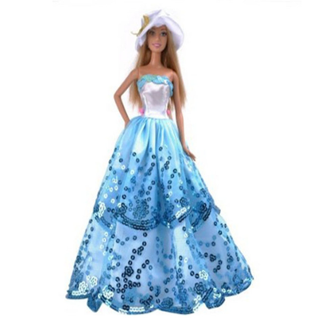 Online Shop LeadingStar Blue Ball Gown Dress with Light Blue ...
