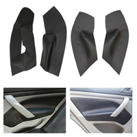 Microfiber Leather Car Interior Door Armrest Panel Protective Cover For Skoda Octavia 2007 2008 2009 2010 2011 2012 2013 2014