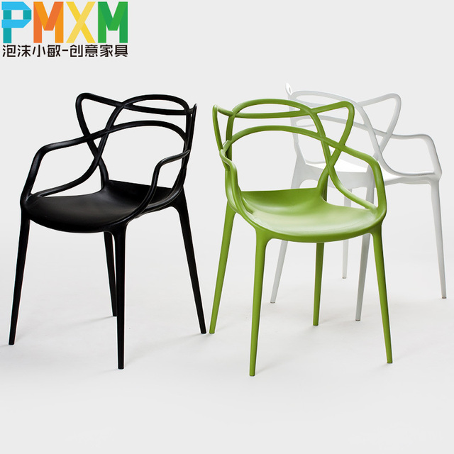 Outdoor dining chair plastic garden chair design casual fashion ...