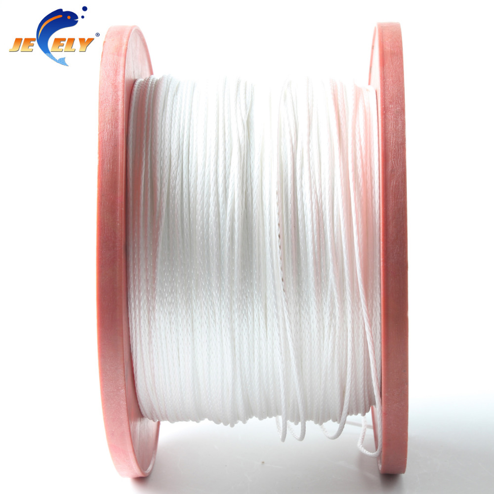 Jeely 100m 120kg 16 strand 1.2mm uhmwpe Fiber braid hollow Fishing line White Color