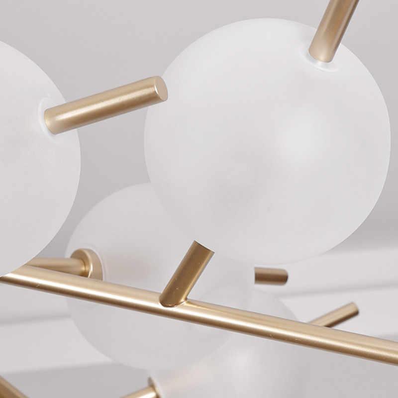 Новая волшебная ветка фасоли люстра матовое стекло круглый железный искусство современные Пузырьковые люстры освещение