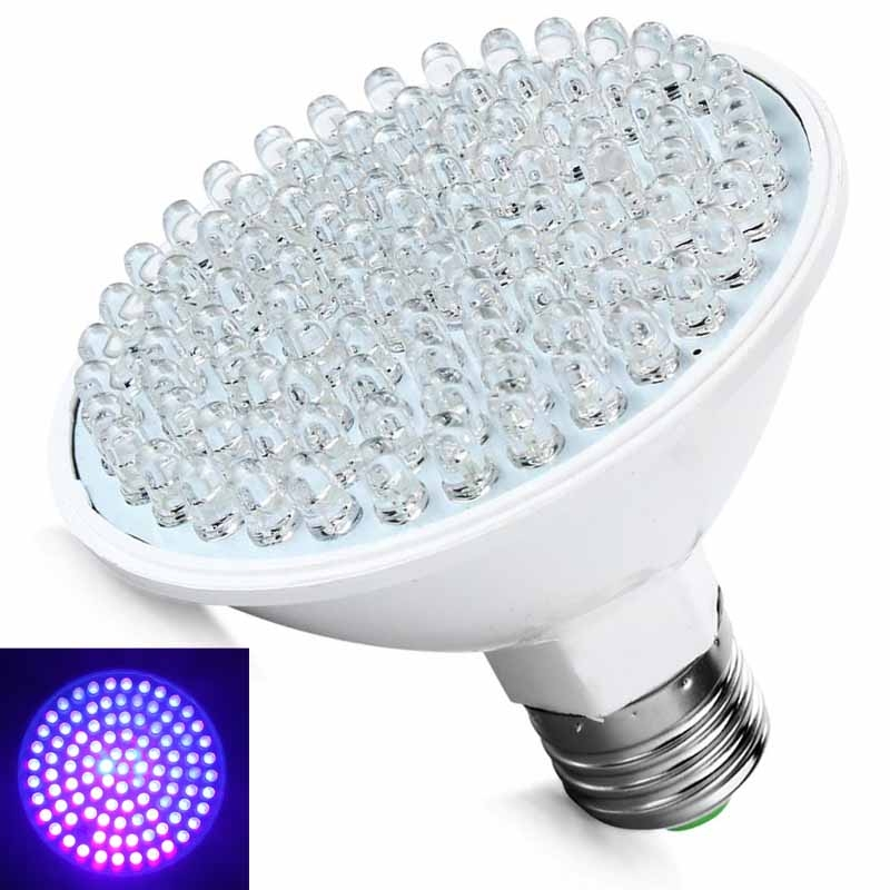 Ultra Bright Plastic <font><b>E27</b></font> <font><b>UV</b></font> Plant Grow Ultraviolet Light Color Purple Lights 100LED Lamp <font><b>Bulbs</b></font> 220V Energy saving Indoor Light image