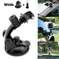 Ir pro Carro Ventosa Titular Tripé Adaptador de Montagem Para sjcam sj4000 gopro hero 4 3 + 3 alumínio para xiaomi yi acessórios