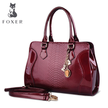 Foxer Marke frauen Kuh Leder-umhängetasche Luxus Handtaschen Frauen Taschen Weibliche Tote Neue Designer