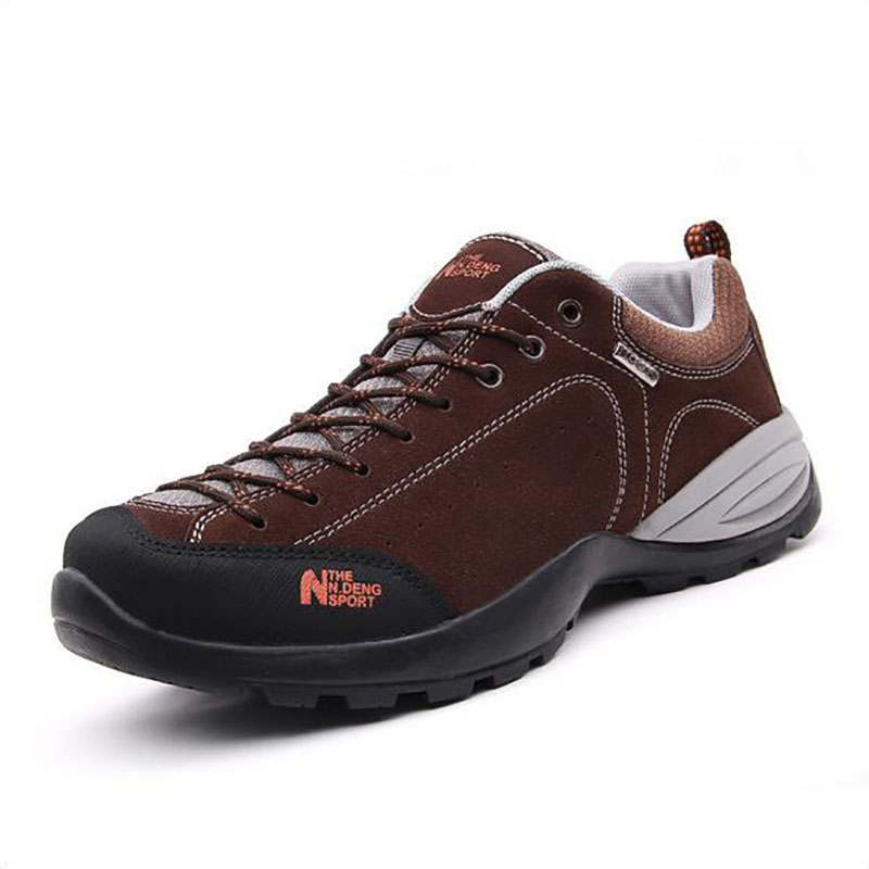 2015 new man's hiking shoes for outdoor walking climbing cushioning sneakers for men Slip resistant breathable soft leather 98 new handmade hiking shoes for men climbing boots breathable and non slip cowhide outdoor sneakers free shipping