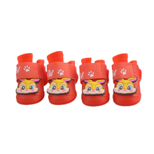 Красочные Домашних Собак Обувь PU Открытый Носки Непромокаемые Сапоги Пинетки тонкий Ботинки Pet Товаров Для Поставки Собака Дождь 70822