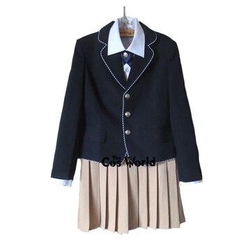 Preppy Style Student Class Uniform Japan JK DK High School Uniform Navy Blue Coat White Shirt Khaki Skirt Suits