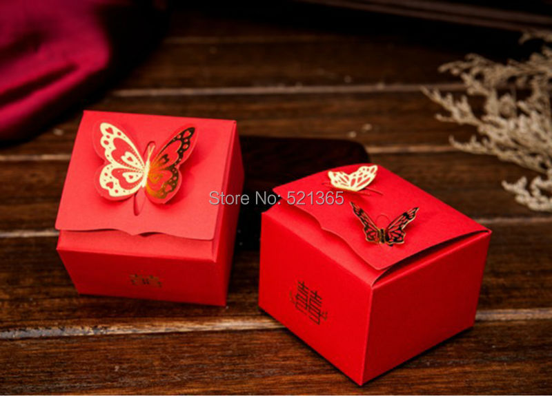 wedding cake boxes for guests 2000pcs lot creative butterfly box 8577