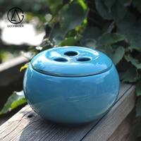 Goofanser kolor glazury ceramiczny dzbanek do herbaty proste mody małe uszczelniony przechowywania czarna herbata pu 'er herbaty może