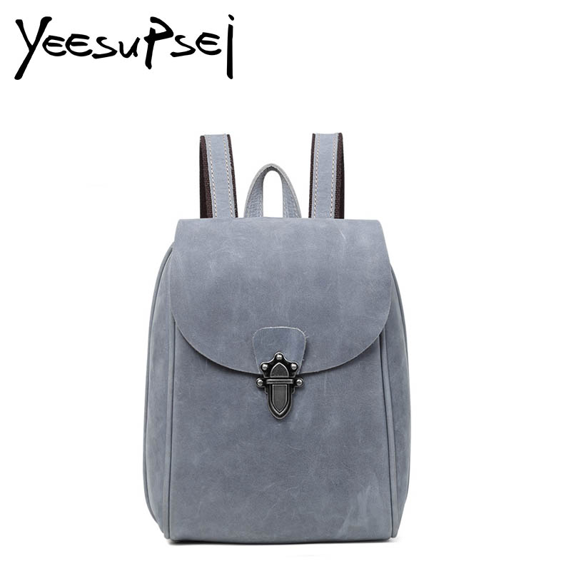 YeeSupSei Design Female Leather Casual Fashion Velour Leather Travel University School Student Bag Backpack Daypack Women BagYeeSupSei Design Female Leather Casual Fashion Velour Leather Travel University School Student Bag Backpack Daypack Women Bag
