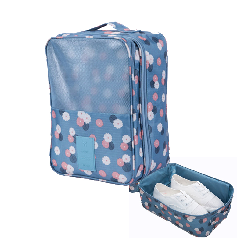 Hot Sale women Travel Bag Nylon 6 Colors Portable Shoes Bags Organizer Sorting Pouch Femal Underwear Bra Socks Bag цена 2017