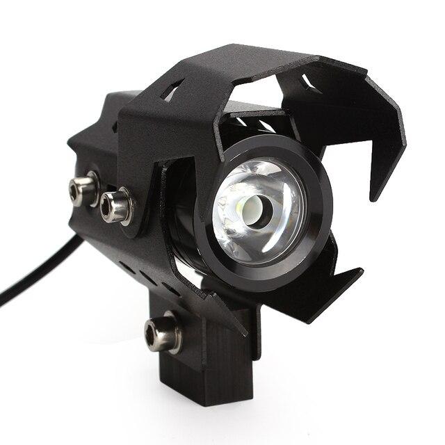 U8 LED Motorbike Spotlights Motorcycle Headlight High Low Flash Beam Head Light Lamp Waterproof #iCarmo