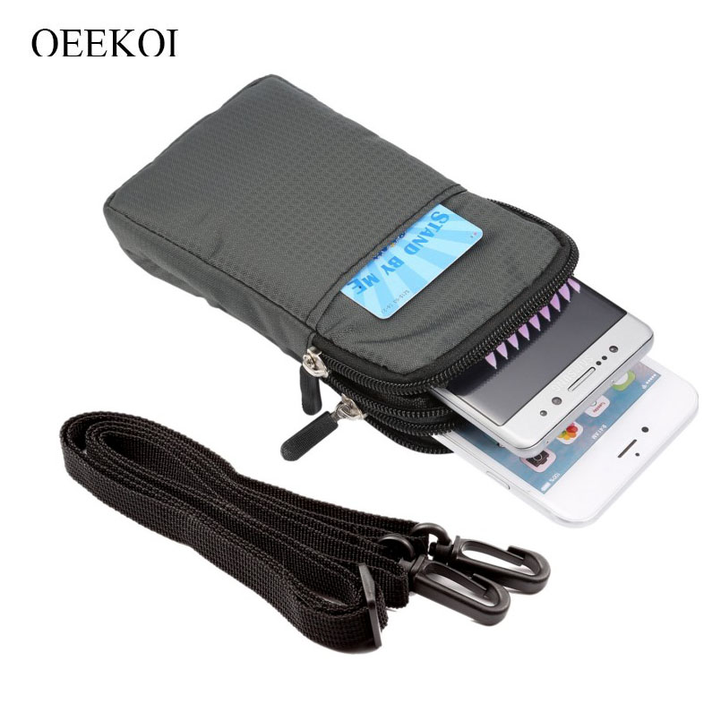 OEEKOI Multi-Function Belt Clip Sport Bag Pouch Case for <font><b>bq</b></font> <font><b>6010G</b></font> Practic/5519L Fast Plus/5010G Spot/5011G Fox View image