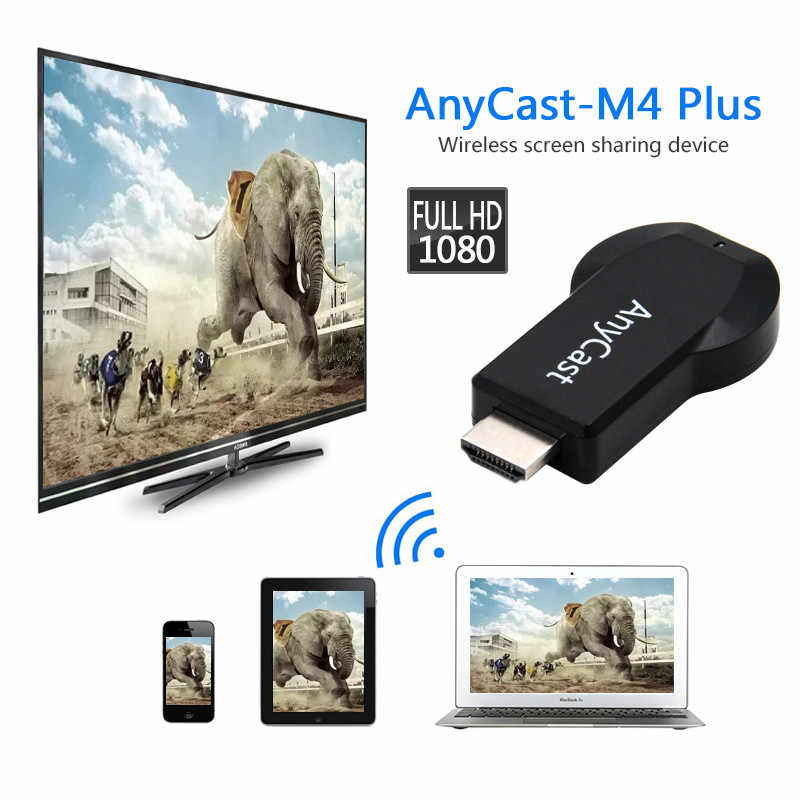 YIKIXI Anycast M4 plus klucz sprzętowy do tv Anycast Crome obsada hdmi wifi Miracast Mini PC android tv