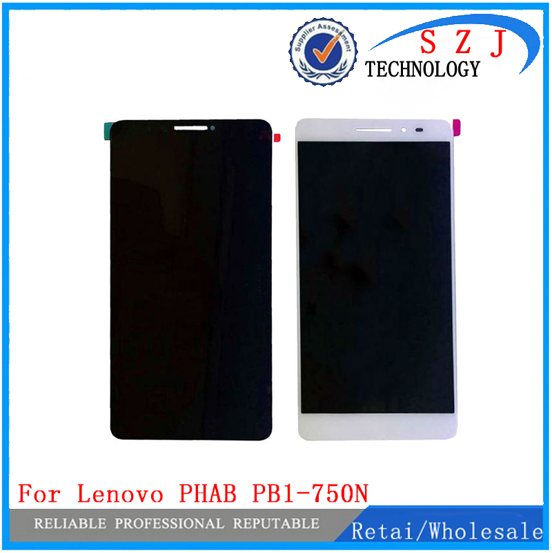 New For Lenovo PHAB 6.98 PB1-750 PB1-750N PB1-750M HGEHQY3H LCD Display Panel Touch Digitizer Glass Assembly Free Shipping for lenovo phab plus pb1 770 pb1 770n lcd display touch screen digitizer assembly for lenovo pb1 770m lcd display replacement
