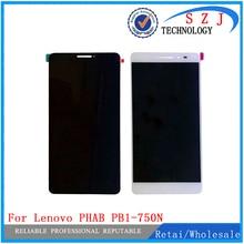 Nuevo Para Lenovo PHAB 6.98 PB1-750 PB1-750N PB1-750M HGEHQY3H Panel de la Pantalla LCD Táctil de Cristal Digitalizador Asamblea Envío Gratis