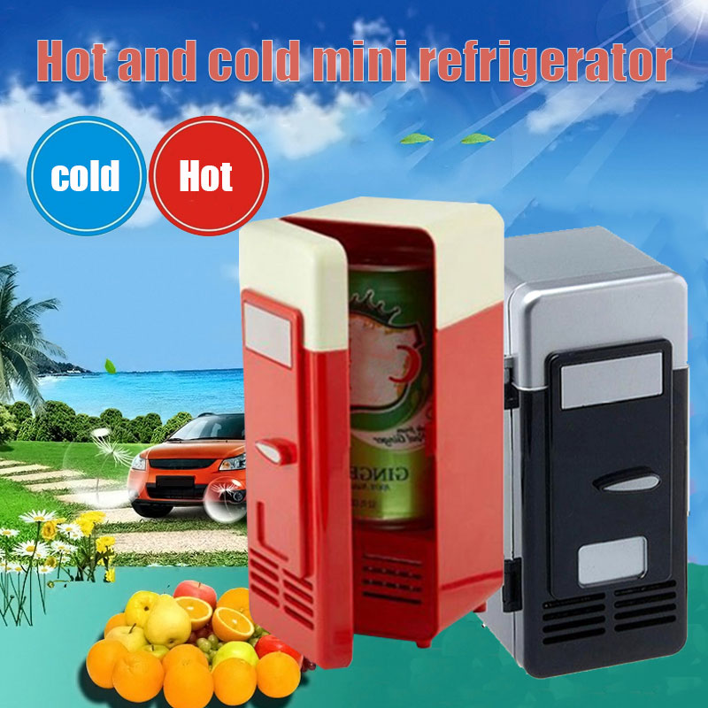 2019 Drop Shpping Black Red Freezer USB Mini Fridge Small Portable Soda Mini Refrigerator for Car