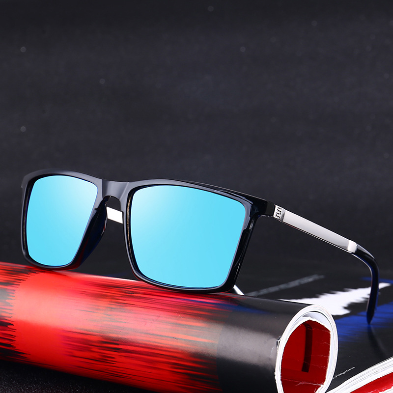 3263d661cc61 VCKA Brand Ultra light Polarized Lens Sunglasses Men Vintage Square Sun  glasses Male Driving Safety Protect Eyeglasses HD Lens-in Sunglasses from  Men s ...