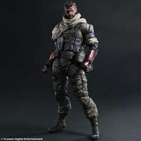 HKXZM Anime Figure 25CM Metal Gears SNAKE PVC Action Figure Collectible Model Toy Gift