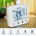 KERUI TD32 pantalla LED ajustable de temperatura y humedad Sensor de alarma Detector de alarma de proteger el personal y la propiedad