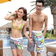 Aliexpress of high sales of  The new beach pants graffiti sand  couples Men's beach pants