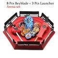 Transporte da gota beyblade explosão b139 brinquedos com lançador de partida e arena bayblade fusão metal deus girando topos bey lâminas brinquedo
