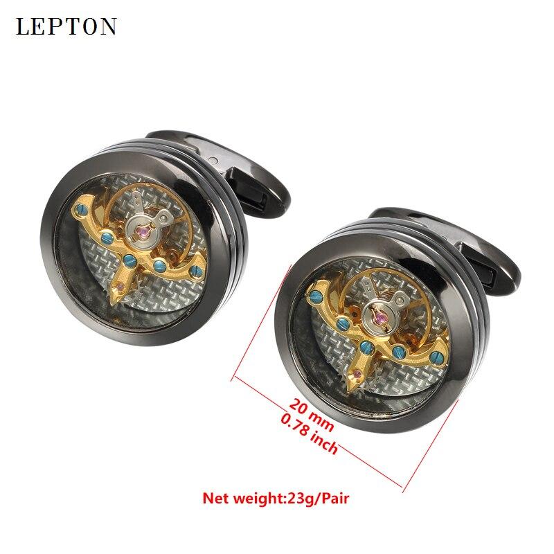 Gemelos de movimiento Lepton Gold Color Tourbillon para hombres reloj - Bisutería - foto 3
