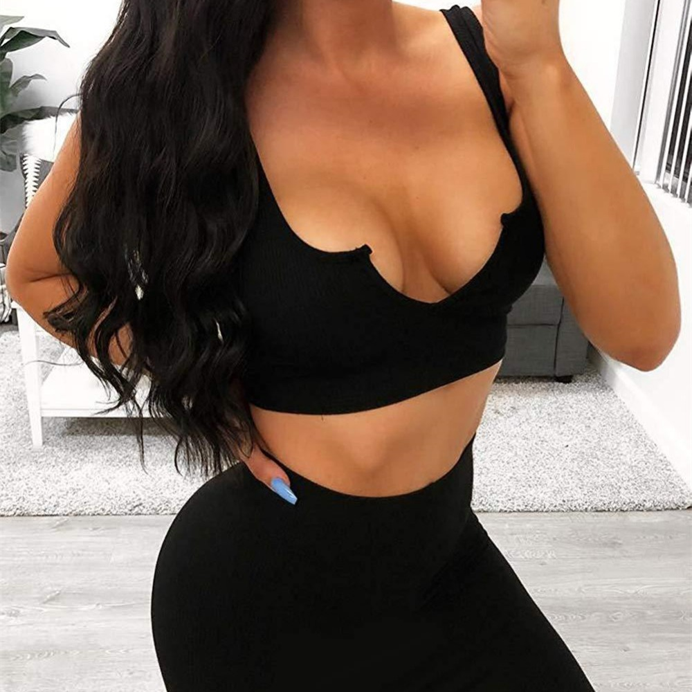 Night Club Wear Crop Top and Mini Dress Two Piece Set Sexy V-neck Bodycon Female Summer Set