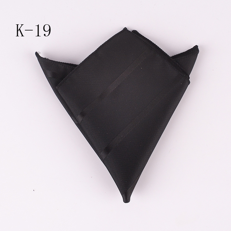 Top 20 Colors Vintage Black Striped Hanky Mens Business Stylish Square Pockets Handkerchief Wedding Hankies k19