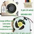 100% testado Brand New CPU Fan para HP 4540 S 4740 S 4745 S 683484 - 001 Laptop reparação parte substituição ventilador cooler
