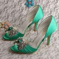 Wedopus MW347 Элегантный Горный Хрусталь Свадебные Туфли Зеленый Моды Туфли На Каблуках для Женщин