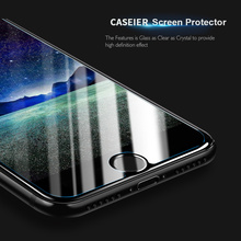 CASEIER 9H Tempered Glass For iPhone X Colorful Plating Mirror Screen Protectors 7 8 Plus Front Film Ultra-thin