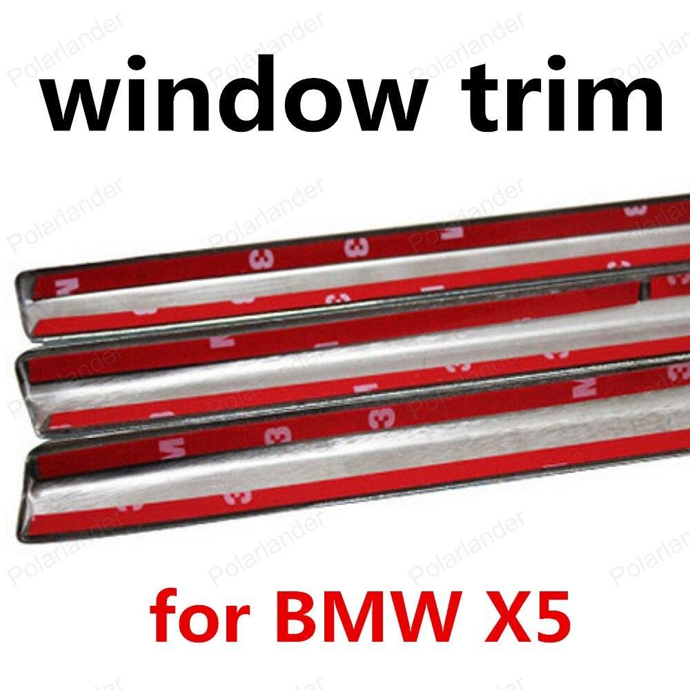 Heißer verkauf Fenster Trim Dekoration Streifen Für BMW X5 Edelstahl Auto Zubehör ohne spalte