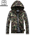 2016 Autumn New Arrival Man's Casual Hooded Zipper Jacket Male Slim Camouflage Design Couples Thin Jackets M390