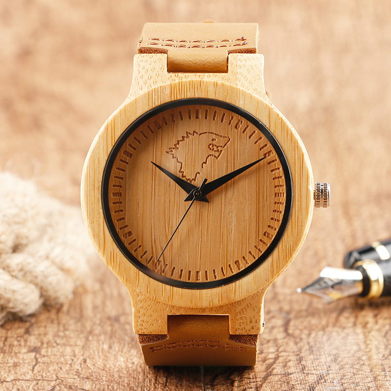 2017 New Desig Wood <font><b>Watches</b></font> House <font><b>Stark</b></font> Game of Thrones Wolf Pattern Face Analog Women <font><b>Men</b></font> Wristwatches Relogio Feminino Clock image