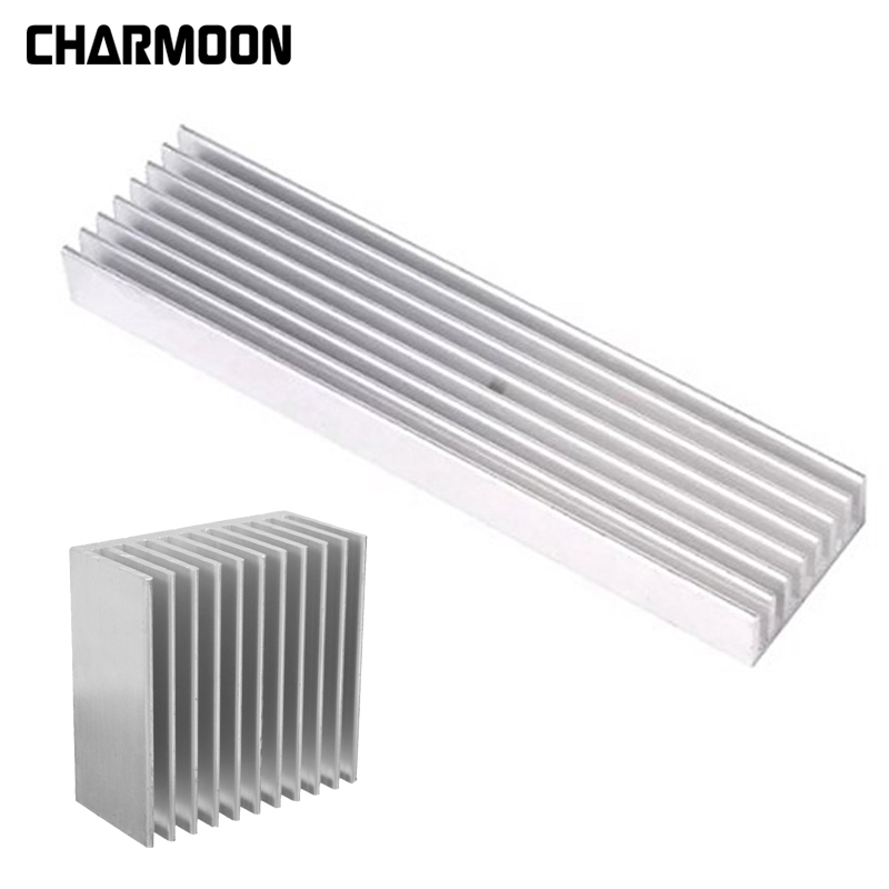 4 Size Aluminum Heatsink Power Amplier / Computer Heat Sink High Quality Radiator Module Cooling Fin