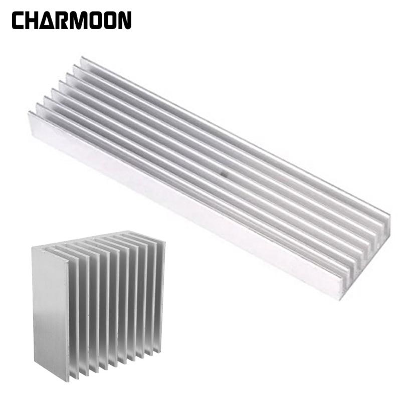 4 Size Aluminum Heatsink Power Amplier / Computer Heat Sink High Quality Radiator Module Cooling Fin
