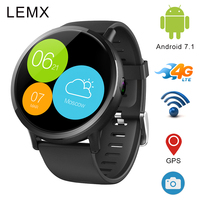 Lemx Android 7,1 4G Смарт часы телефон 1 ГБ + 16 ГБ 2,03 дюймов Экран 8MP Камера gps Smartwatch Для мужчин Для женщин тепла Rate Monitor часы