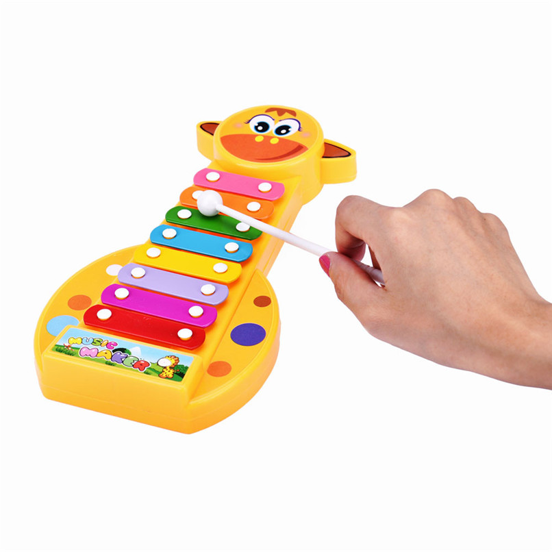 Baby Toys Colorful Baby Kids Musical Toys 8-Note Xylophone Plastic Instrument Wisdom Development Early Education Toys JY09#F (2)