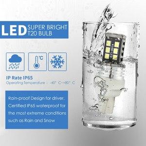 Image 4 - 2x T20 W16W 15 SMD 4014 bombillas de luz LED de marcha atrás 6000K blancas para coches luz LED de intermitentes