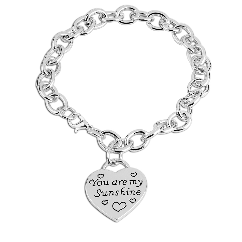 you are my sunshine Bracelets for lovers Lettering