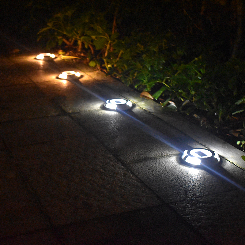 Solar Road Stud Verlichting Aluminium 4 LED Outdoor Road Oprit Dock ...