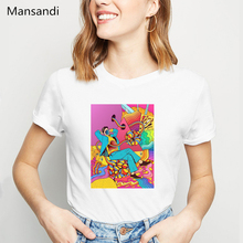 Summer 2019 t shirt women LGBT psychedelict shirts top female t-shirt korean aesthetic clothes surreal abstract art tshirt