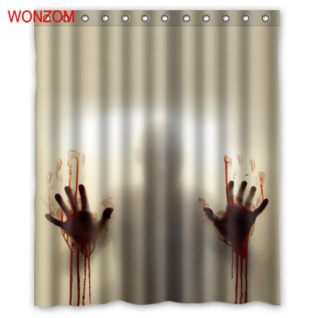 WONZOM Death Binnenkant Gordijnen met 12 Haken Voor Badkamer Decor ...