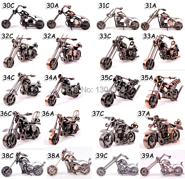 Home Decor Motorcycle Iron Metal Car Model Diecast Boy Toys Crafts Gifts Home Decoration HLM37A