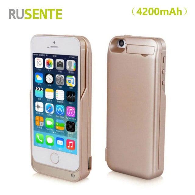(Продажи RU) 4200 МАч Случае Батарея Зарядное Устройство Аккумуляторная Внешний backuppower банк крышки случая pcak Для iPhone5 5S