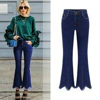 Brand Women Flare Pants Straight Wide Leg Black Trousers Female High Waist Zipper Long Slim Striped