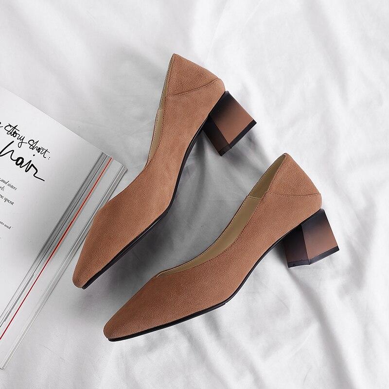 Mujer Pu 3 Genuino Sólida Tamaño marrón Tacones Zapatos Eshtonshero Plataforma Elegante Cuero Básica Marrón Med De Boda Verano Damas Apricot 8 XnYtTAv