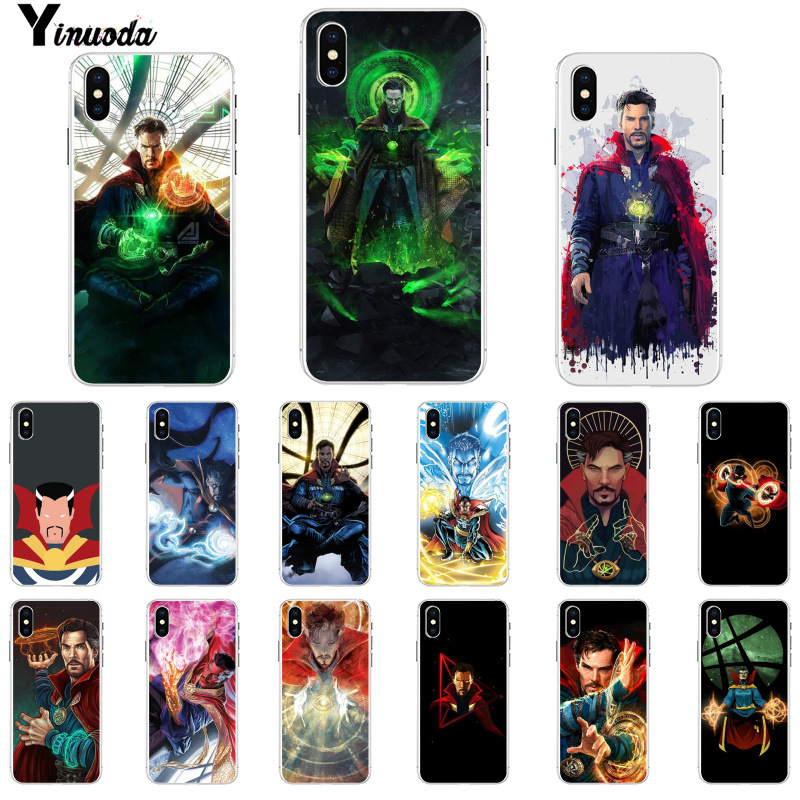 Reasonable Yinuoda Marvel Cinematic Superhero Doctor Strange Pattern Phone Case For Apple Iphone 8 7 6 6s Plus X Xs Max 5 5s Se Xr Cover Half-wrapped Case